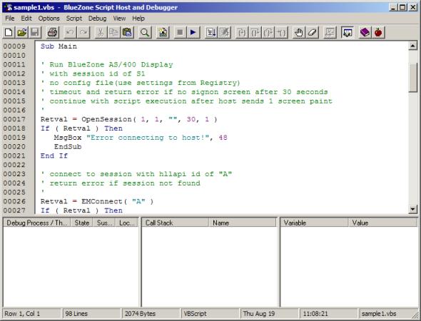 Vbscript sample scripts