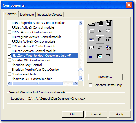 Embed ActiveX in a VB Form