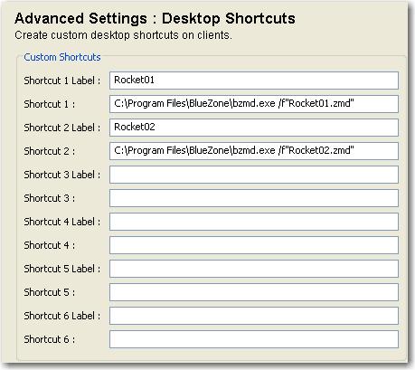 Create Desktop Shortcuts