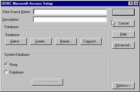 Connecting to a Microsoft Access Database