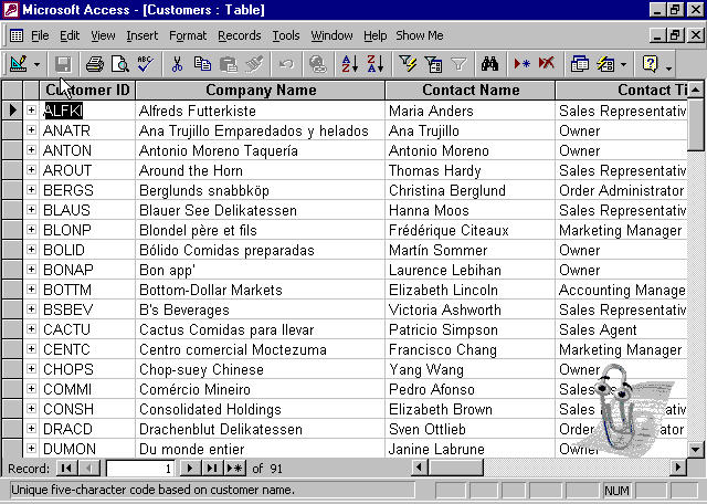 access database example
